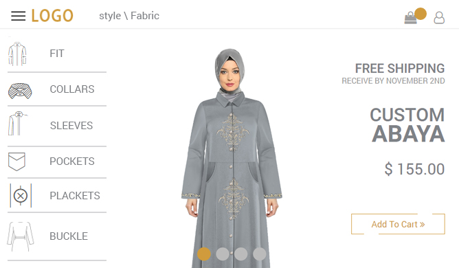 Abaya Customization Tool