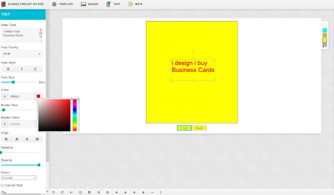 Business Card Designer Tool