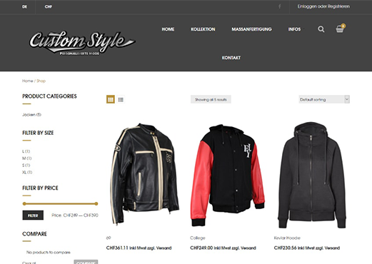 Jacket Customization Software
