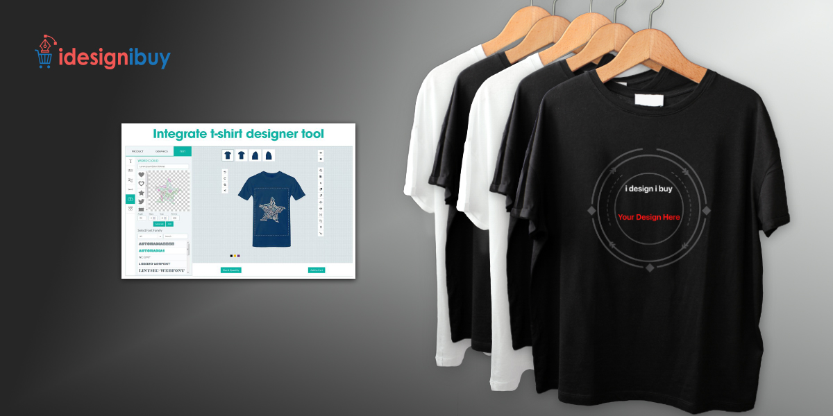 Integrate our T-shirt design tool software with your online store and make your customers happy
