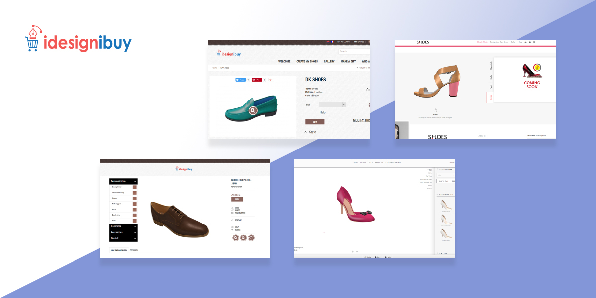 Shoe design tool: Let your customers get creative and design custom shoes online