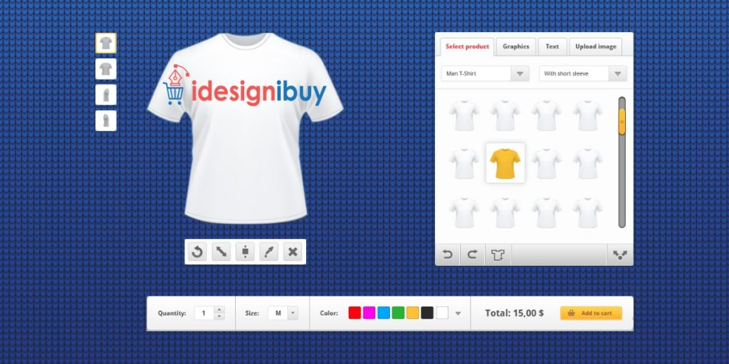 T-shirt Design Tool- An Online Product Customization Software to ...