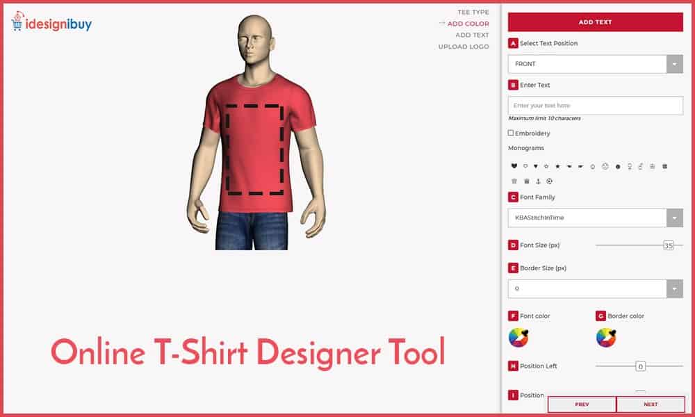 Creating customize T-shirt with apparel design software